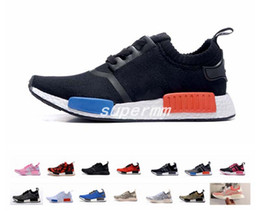 Wholesale Running Kicks - 2017 NMD Runner R1 PK Primeknit OG Black Triple White Nice Kicks Circa Knit Men Women Running Shoes Sneakers Originals Classic Casual Shoes