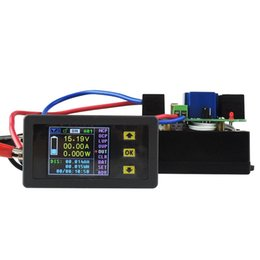 Wholesale Power Multimeter - Freeshipping DC 120V 30A Wireless Digital LCD Display Digital Current Voltmeter Ammeter Watt Battery Capacity Power Energy Combo Multimeter