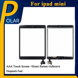 Wholesale Oem Home Button - For iPad mini1 iPad mini2 OEM Digitizer Touch Screen Assembly Repair Replacement + IC home button+ adhesive replacement