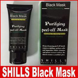 Wholesale Black Mud Dhl - SHILLS Deep Cleansing Black Mask Pore Cleaner 50ml Purifying Peel-off Mask Blackhead Facial Mask Free DHL Shipping