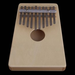 Wholesale Pine Wood Color - Wholesale- New 10 Key Kalimba Mbira Likembe Sanza Thumb Piano Pine Light Yellow Mini Thumb Piano For Children Friend Gift ISP