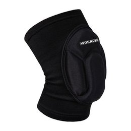 Wholesale Patella Protector - Wholesale- One Piece Sports Elastic Leg Knee Support Brace Wrap Kneepad Protector Patella Guard Volleyball Knee Pad