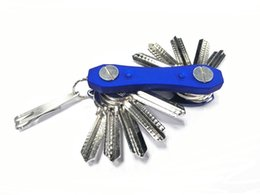 Wholesale Family Colors - EDC Multi Pocket Tool Key Holder Clip Folder Keychain Organizer Flexible Blue Black Red Colors A303