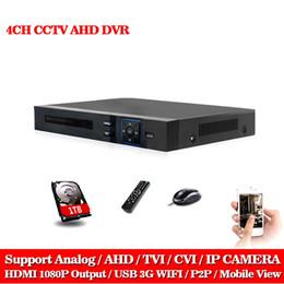 Wholesale Dvr Ptz Camera - LLNIVISION AHD CCTV 4CH DVR HDMI 1080p Digital Video Recorder DVR For Security CCTV Camera System PTZ Camera with 1TB Hard disk