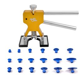 Wholesale Auto Body Repairing Tools - PDR Auto Repair Tool Set New Design Golden Puller Lifter Work With Dent Tabs For Car Body Dent Paintless Removal Ferramentas