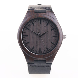 Wholesale Pin Ups - Wood Mens Womens Watch Wooden With Leather Band Japanese Miyota 2035 Quartz Movement Round Dial Analog Unisex 3 Colors With Gift Box