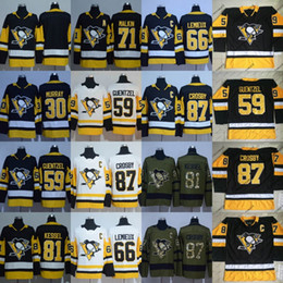 Wholesale Gold Mario - 2017-18 Season Pittsburgh Penguins Jersey Mens Matt Murray Jake Guentzel Mario Lemieux Evgeni Malkin Phil Kessel Sidney Crosby Jerseys
