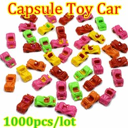 Wholesale Wheels For Toy Cars - 1000pcs lot Mini Plastic Car The wheels can move Car model toys for kids gift capsule Toys car For 45mm capsule