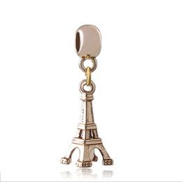 Canada Pendentifs de la tour Eiffel gros européen doré charmes fit pour Pandora perlé Bracelets Bracelets Personnalité Designs bijoux pour maman filles cheap beaded bangle pandora Offre