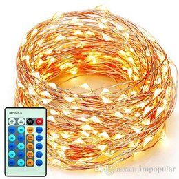 Wholesale String Light Wire - IMpopular 2m 6.6ft 10m 33ft 20m 66ft Copper Wire LED String Fairy Light Home Factory Office Lamp Indoor and Outdoor Starry String Lights