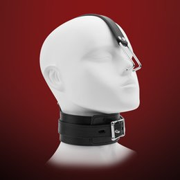 Wholesale Leather Slaves - Leather Sex Slave Collar with Nose Hook, Fetish bdsm Bondage Restraints, Erotic Toys Sex Toys for Couples, Sex Products