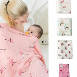 Wholesale Bamboo Baby Blanket - Baby Muslin blanket Newborn Aden Anais Ins Wrap Toddler Bamboo Bath Towels Animal Parisarc Sleepsacks Bedding 120*120cm 23 design KKA1462