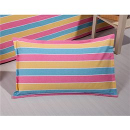 Wholesale Coarse Yarn - Bedding article coarse cloth Pillow case , Double bed simple style cotton Pillow case four seasons general, A variety of colors no2