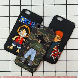 Wholesale One Piece Hard Case - Carton Cute SLAM DUNK One Piece Phone Case Hard Pc Matte Back Cover For iPhone 6 6s 6plus 7 Plus Caes Patterned Coque