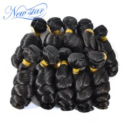 Wholesale off black brazilian hair - Wholesale-New star brazilian virgin human hair Loose curl, 100% unprocessed, 10pcs lot, natural off black. wholesale price free shipping