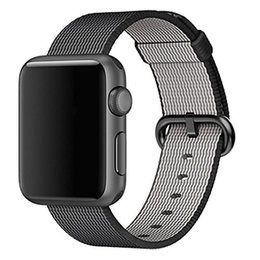 Wholesale Red Wrist Strap - Smart Watch Band Series 1 Series 2,Woven Nylon Replacement Wrist Band Bracelet Strap with Classic Buckle for iwatch,42mm