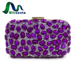 Wholesale cell phone wedding - Wholesale- Milisente Clutches Women Evening Clutch Bag Gold Clutches Bags Blue Party Silver Wedding Purse