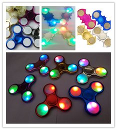 Wholesale Different Models - Led Light with Switch Chrome Hand Spinners Bat Fidget Turn on and OFF Batman with Metal Hand Spinners 3 Models Different Flashing Colors
