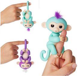 Wholesale Wholesale Bike Hanger - 2017 Large stock Fingerlings Interactive Kids Monkey Sound Finger Motion Hanger Toys Colorful Finger Monkey Fingerlings Party Favor