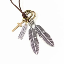 Wholesale Necklace Statment - Wholesale-2016 maxi jewelry necklaces & pendants colar collares punk vintage feathers pendant rope men statment necklace for women collier
