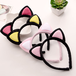 Wholesale Black Lace Cat Ears - 2017 New Fashion Fawkes Cat Ears Headband Card Plush Headband Cat Hair Both Adults And Children Can Wear hot explosion Popular
