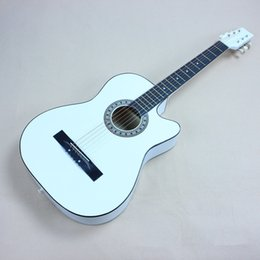 """Wholesale 38 Acoustic Guitar - Wholesale- 2016 NEW 38"""" Acoustic guitar 38-6 high quality guitarra Musical Instruments with guitar strings"""