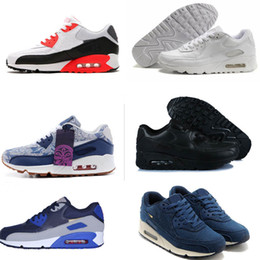 Wholesale Air 45 - Men Sneakers Shoes Classic 90 Men and women Running Shoes Sports Trainer Air Cushion 90 Surface Breathable Sports Shoes 36-45