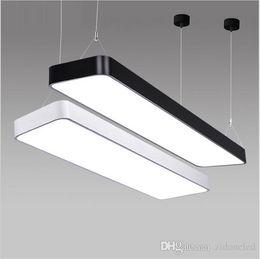 Wholesale Modern Suspended Light Fixture - super bright LX220 study office modern LED ceiling pendant lamp rectangle Suspended Pendant light fixtures home White light