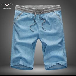 Wholesale Flax Tops - Wholesale-Men's Shorts 2016 new Hot Sale summer Casual shorts loose-bodied style shorts flax cotton plus size top