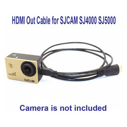 Wholesale Hdmi Length - Wholesale- Free Shipping!! Micro HDMI HDMI Out Cable for SJCAM SJ4000 SJ4000WIFI SJ5000 Action Camera,Length: 1.5cm
