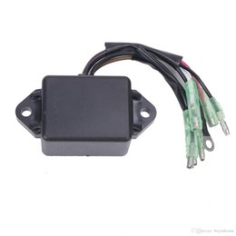 Wholesale Motorcycle Ignition Cdi Coil - Motorcycle CDI Ignition Control Module COIL Electronic Power Pack For Yamaha 8HP 9.9HP 15HP 20HP 25HP Outboard 2 Stroke Engines Motor #M055