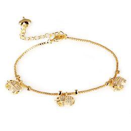 Braccialetto creativo dell'elefante del nuovo di arrivo di qualità superiore placcato oro 18K per le donne con il cristallo da cristalli di elefanti fornitori