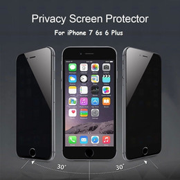 Wholesale Iphone5 Screen Glass - Film For iPhone5 iPhone6 plus iPhone 6 6s 7 Plus Privacy Tempered Glass Screen Protector Anti Peeping