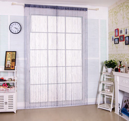 Wholesale 100 Polyester Textile String Door Window Curtain With Beads for the Living Room