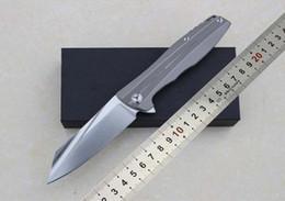 Wholesale Rocket Knife - New rocket survival Knives Tactical Folding Blade Titanium handle D2 59HRC Knife Outdoor Hunting Camping Combat Pocket Knife 1pcs freeshippi