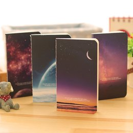 Wholesale Cute Notebook Diary - Wholesale- mini cute novelty moon star Universe notebook notepad diary writting paper memo note school supplies stationery wholesale