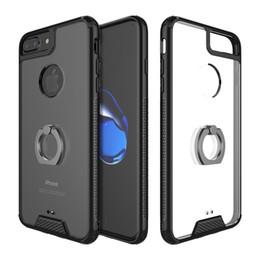 2019 iphone ring ring Pour iPhone 7 8 plus Case drop durable Transparent Dur Acrylique TPU Souple En Silicone Couverture Arrière Support Pour Apple 7 8 plus promotion iphone ring ring