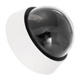 Wholesale Security Cameras Dome Housing - Wholesale- CES-Plastic Security CCTV CCD Dome Shape Camera Housing Cover Black+White