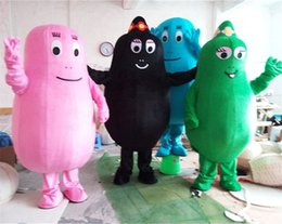 Wholesale Cartoon Character Costumes Prices - Best price pink BarbaPapa mascot costume lovely beard papa adult Mascotte cartoon character suit EMS free shipping