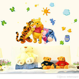 Wholesale Baby Wall Stickers Winnie - 33*60cm New Arrival Winnie The Pooh Cartoon Wall Stickers Children's Bedroom Nursery Baby Creative Poster