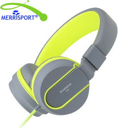 Wholesale Oppo Player - Stereo Headphones with Mic 3.5mm Foldable Headsets for iPhone Samsung Xiaomi HTC OPPO VIVO LeTV Laptop PC Computers MP3 4 Players MERRISPORT