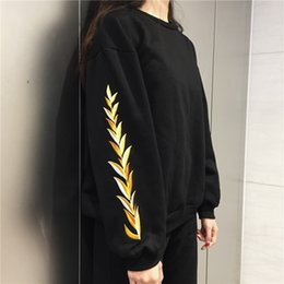 Wholesale Floral Dress Material - Free shipping 2017 new Women's Sweatshirts cotton men and women material Long sleeve Sweatshirts pullover Embroidery Couples dress
