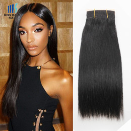 Wholesale Jet 18 - 300g Mink Brazilian Hair Bundles Color 1 Jet Black Brazilian Silk Straight Body Wave Deep Curly Remy Human Hair Weave Bundles