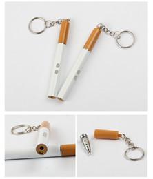 2020 scrittura laser 200pcs Cigarette Design 3 in 1 Mini Portachiavi portatile LED Torcia con penna laser rossa Scrittura Torch Light scrittura laser economici