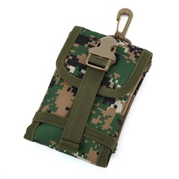 Wholesale Hockey Phone Cases - Outdoor Universal Phone Camouflage Bag <5.5inch Sport Pouch Belt Hook Loop Holster Waist Case for Outdoor Sport Case