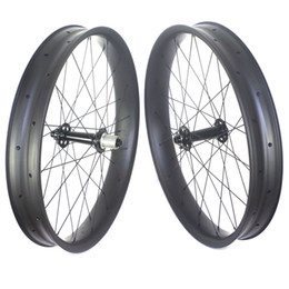Wholesale Wheel Carbon 26 - hot sale 26er fatbike carbon wheels tubeless fat bike carbon wheelset 80mm width 25mm depth