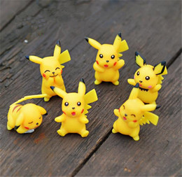 Wholesale Small Figurines - Newest cartoon toys for Child 3cm Little Figurine Poke action figures Small Classic Pikachu Micro landscape furnishing articles I092