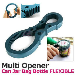Wholesale Bottle Shaped Opener - Multifunctional 8 Decapsulation Screw Cap Jar Bottle Wrench Opener Gourd-shaped Screw Can Opener Antiskid Kitchen Tools CCA6455 50pcs