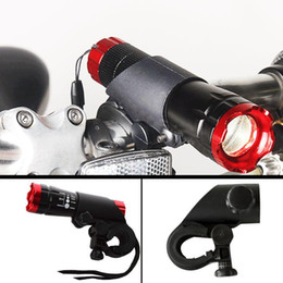 Supporto a morsetto a torcia elettrica online-New UnSwivel Bici da bicicletta LED Flashlight Light Mount Staffa Holder Torch Clip Clamp Ciclismo Grip Mount Lights Holders