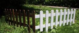 2019 recinzione di legno fiorito Giardino recinzione in legno traliccio antisettico recinzione in legno guardrail cancelli cortile matrimonio giardino aiuole decorazioni 60x35x20 cm dhl recinzione di legno fiorito economici